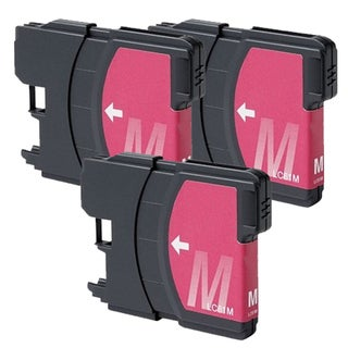 Brother LC61 Magenta Compatible Ink Cartridge (Remanufactured) (Pack of 3)