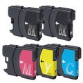Brother LC61 2x BK, 1xCYM Compatible Ink Cartridge Set (Remanufactured) (Pack of 5)