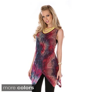 Women's Mixed Media Spliced Top