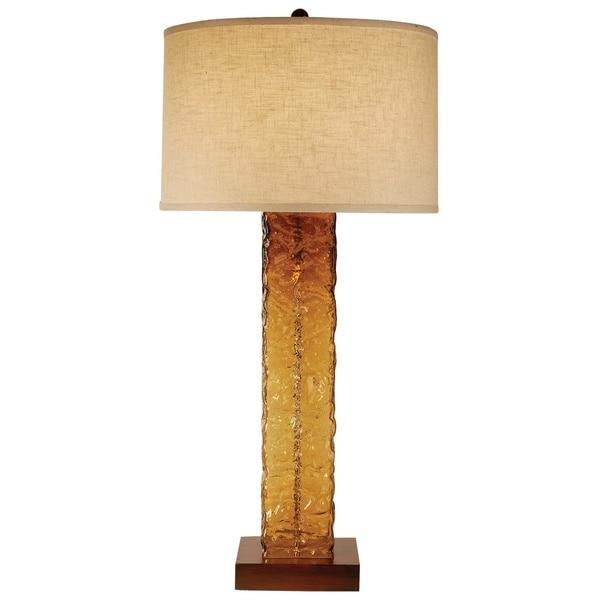 Apex Amber Table Lamp
