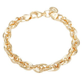 8-inch Yellow Oval Multi Link Bracelet