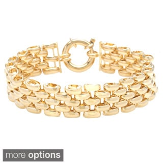 18k Gold 8-inch Yellow Large Pantera Bracelet