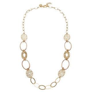 18k Rose Goldplated Bronze Filigree Necklace