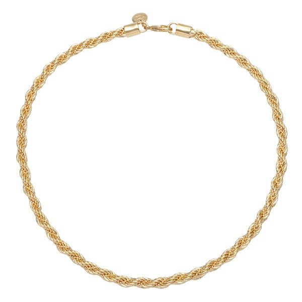 18k Yellow Goldplated Bronze Twisted Rope Necklace