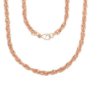 18k Rose Goldplated Bronze Rope Chain Necklace