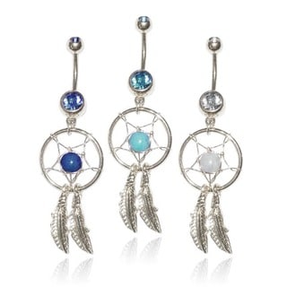 Supreme Jewelry Surgical Steel Dream Catcher Belly Rings (Set of 3)