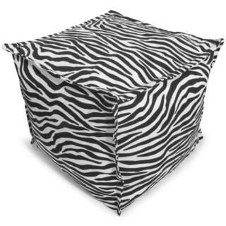 BeanSack Zebra Print Bean Bag Ottoman