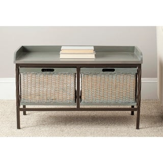 Safavieh Noah Grey Wooden Storage Bench