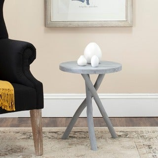 Safavieh Quinn Pearl Blue Grey Tripod Round End Table