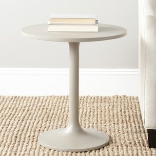 Safavieh Nate Pearl Taupe Round End Table