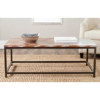 Safavieh Alec Weathered Barnwood Coffee Table