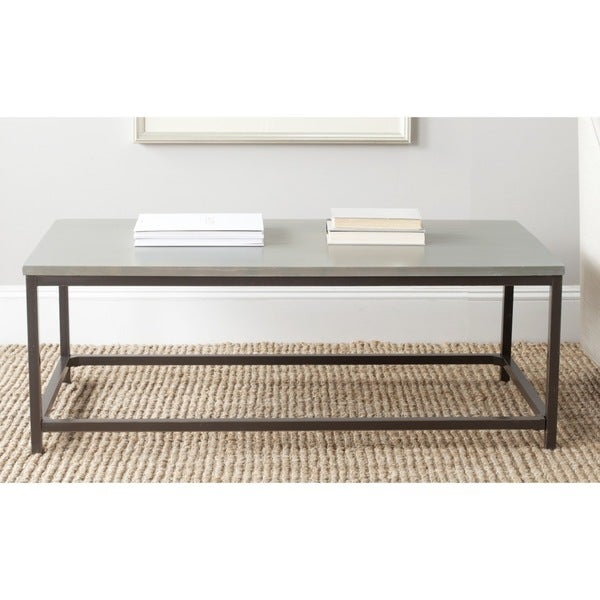 Safavieh alec ash grey coffee table 15932346 overstock for Coffee tables overstock