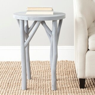 Safavieh Harper Pearl Blue Grey Round End Table