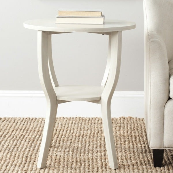 Safavieh Rhodes White Washed Accent Table