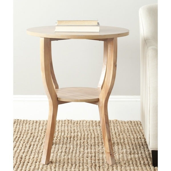 Safavieh Rhodes Honey Natural Accent Table 12255055