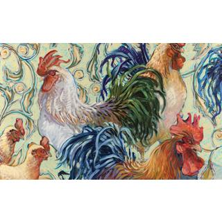 Leslie Rooster Stain-resistant Reusable Paper Placemats (Set of 6)