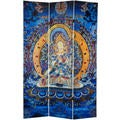 6-foot Tall Radiant Tara Tibetan Double-sided Canvas Room Divider