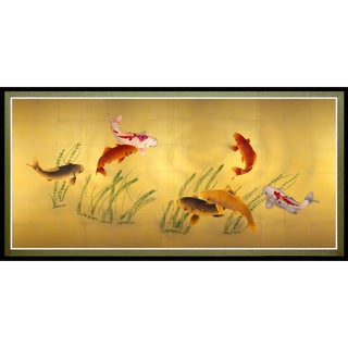'Seven Lucky Fish' Canvas Wall Art