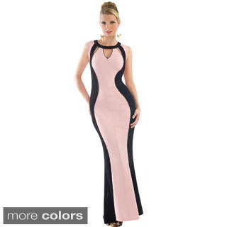 Women's Two-tone Straight Evening Gown