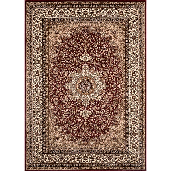 Medallion Traditional Burgundy Rug (5'3 x 7'4) - 5'3 x 7'4 12255537