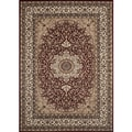 Medallion Traditional Burgundy Rug (5'3 x 7'4)