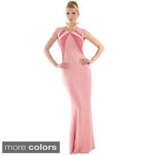 Women's Colorblocked Long Evening Gown
