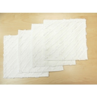 Jeannie White Ruffled Napkins (Set of 4)