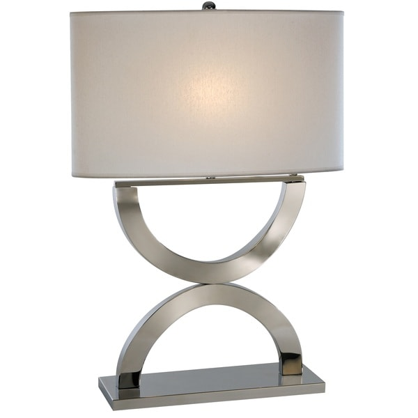 Echo White Table Lamp