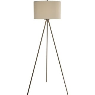 Threads Tripod Nickel Floor Lamp