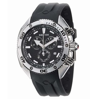 Sector Men's 'Ocean Master' Black Rubber Strap Watch