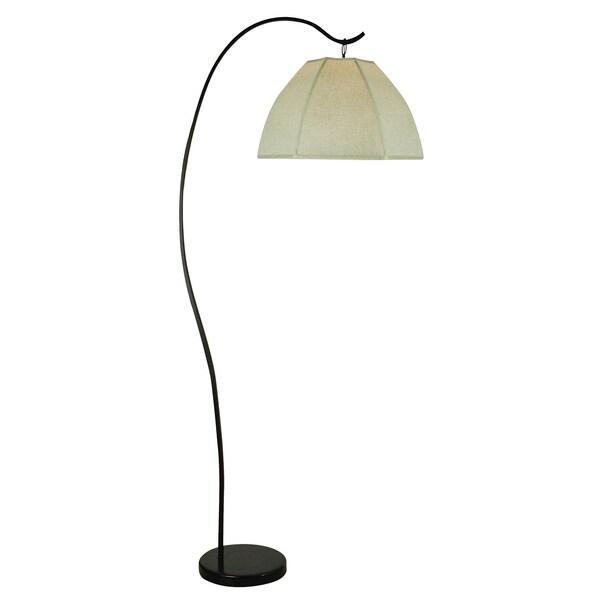 Bordeaux Arc Oatmeal Floor Lamp
