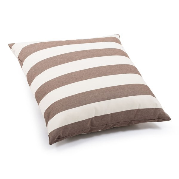 Beige and Bold Brown Pony Pillow