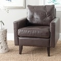 Safavieh Caleb Antique Brown Club Chair
