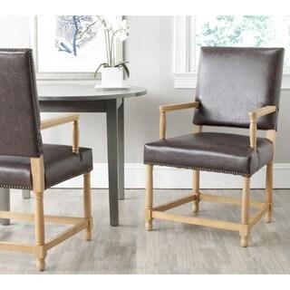 Safavieh Faxon Antique Brown Arm Chair