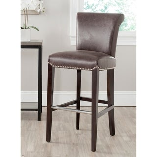 Safavieh 29.3-inch Seth AntiqueBrown Bar Stool