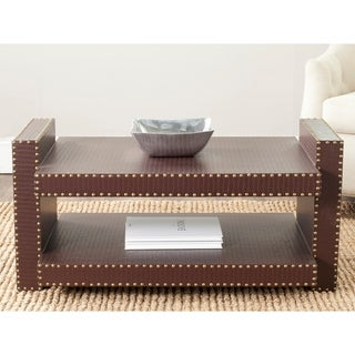 Safavieh Garson Brown Crocodile Coffee Table