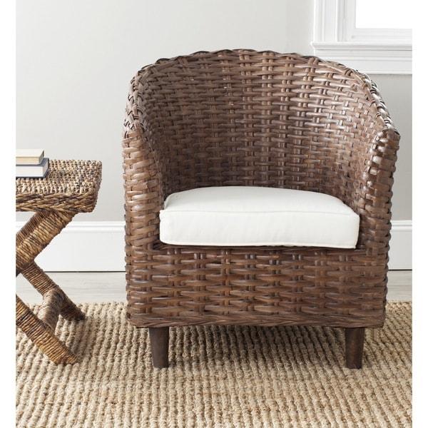 Safavieh Omni Barrel Brown Chair