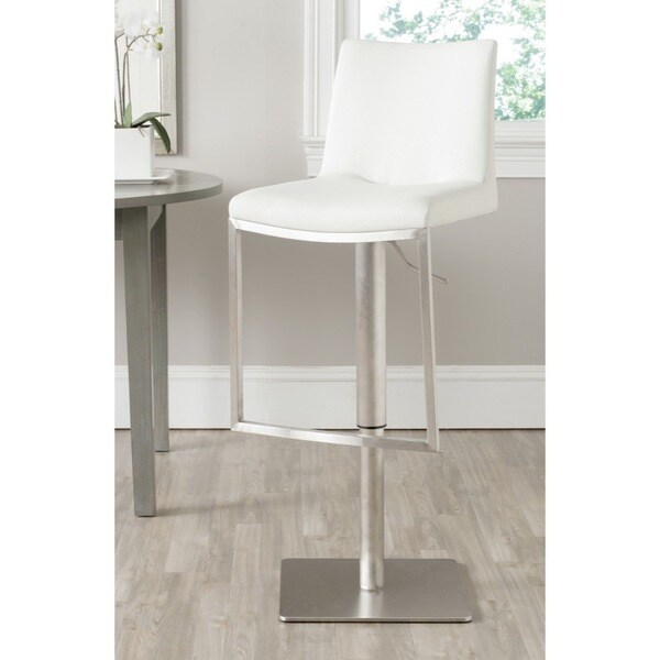 Safavieh Ember White 22-31.9-inch Adjustable Bar Stool