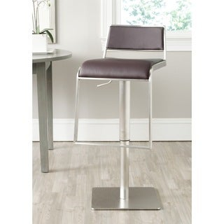 Chic Modern Bonded Leather Barstool 12139127 Overstock