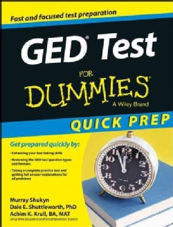 GED Test for Dummies: Quick Prep Edition (Paperback)
