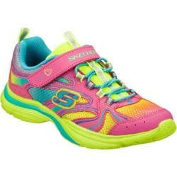 Girls' Skechers Lite Kicks Rainbow Sprite Neon Pink/Multi