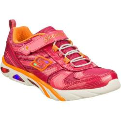 Girls' Skechers S Lights Lite Gemz Pink/Orange