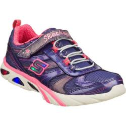 Girls' Skechers S Lights Lite Gemz Purple/Pink
