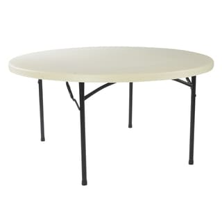 Lightweight 60-inch Round Plastic Folding Table