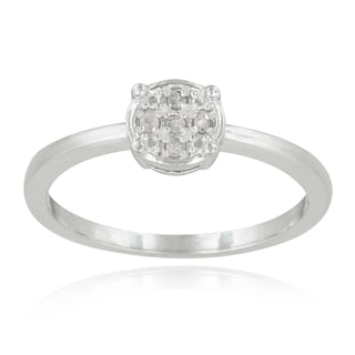 DB Designs Sterling Silver Diamond Accent Round Promise Ring