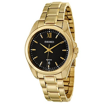 Seiko Men's 'Bracelet' Yellow Gold-Plated Stainless Steel Japanese Quartz Watch