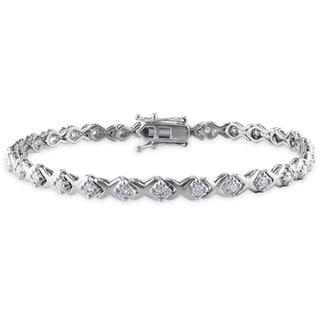 Miadora Sterling Silver 1ct TDW Diamond Bracelet (H-I, I2-I3)