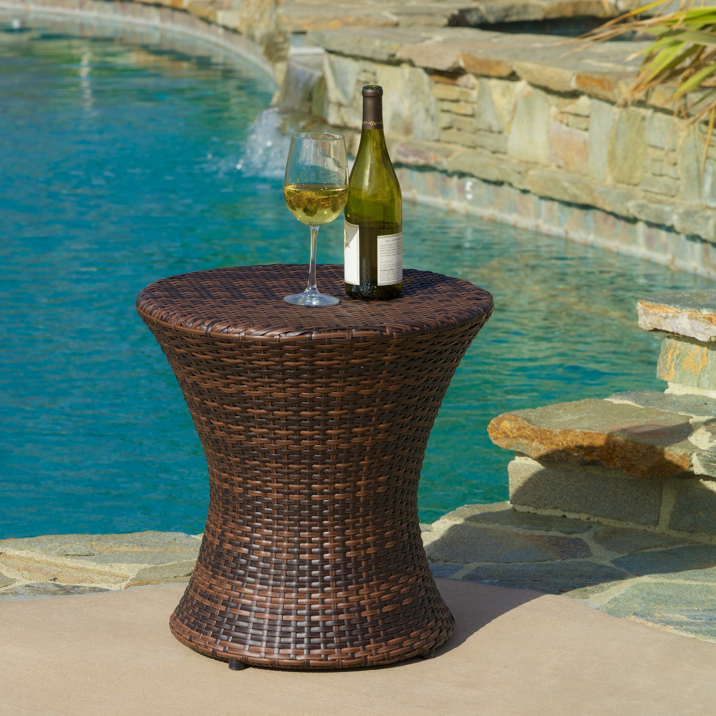 Christopher Knight Home Adriana Pe Wicker Outdoor Accent