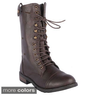 Refresh Women's 'Terra-15' Mid-calf Combat Boots