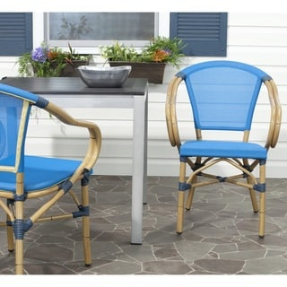 Safavieh Indoor/ Outdoor Karine Blue Arm Chair (Set of 2)